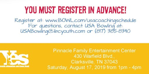FREE USA Bowling Coach Certification Seminar - Pinnacle Family Entertainment Center,Clarksville, TN