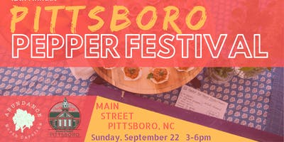 12th Annual Pittsboro Pepper Festival!