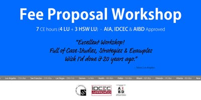 Phoenix Fee Proposal Workshop
