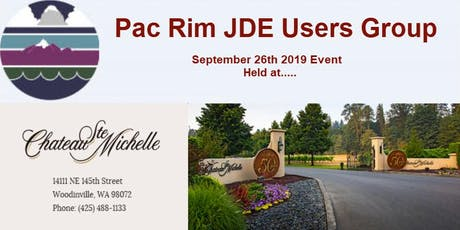 Pac Rim JDE Users Group - Fall 2019 Meeting - September 26th 2019 tickets