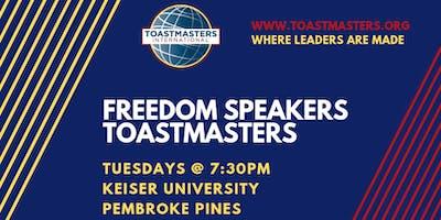 Freedom Speakers Toastmasters Weekly Meeting