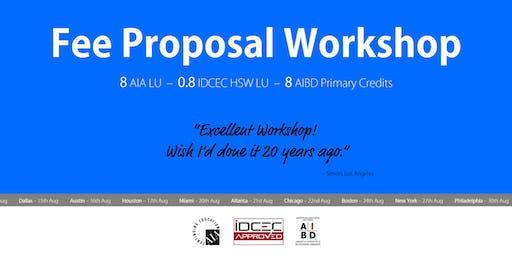 Washington DC Fee Proposal Workshop