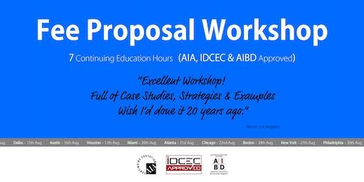 Boston Fee Proposal Workshop
