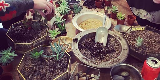 Succulent Building Workshop with The Loading Dock