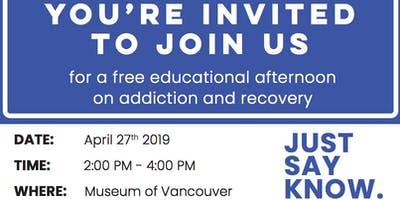An Educational Evening on Addiction and Recovery