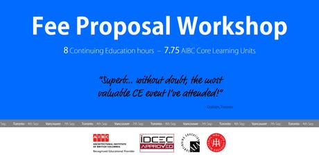 Vancouver Fee Proposal Workshop tickets