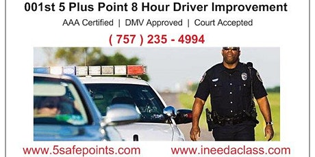 Virginia Beach Virginia Driver Improvement Classes - 23451, 23452, 23453, 23454, 23455, 23456, 23457, 23459, 23460,23461, 23462, 23464. tickets
