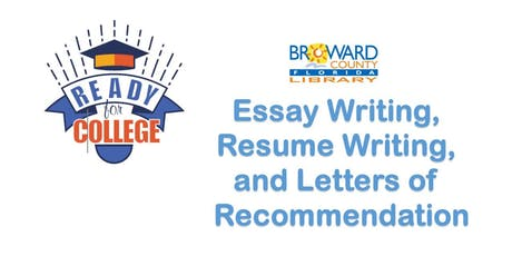 Essay Writing, Resume Writing and Letters of Recommendation @ HL Library tickets