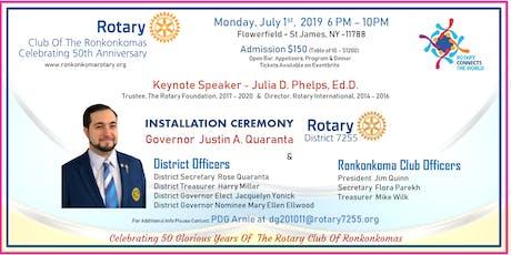 Rotary District 7255 - Ronkonkoma RC 50th Anniversary -  DG Justin Quaranta tickets