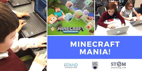 KELOWNA: Minecraft Mania! (Summer Camp - Grades 4-6) 2019 tickets