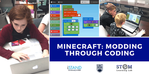 KELOWNA: Minecraft: Modding Through Coding (Summer Camp - Grades 4-6) 2019