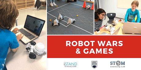 KELOWNA: Robot Wars & Games (Summer Camp - Grades 4-6) 2019  tickets