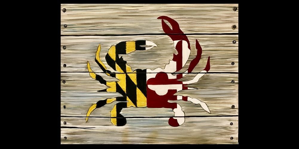 4475cbb80 Paint the Maryland Flag Crab on Canvas Tickets