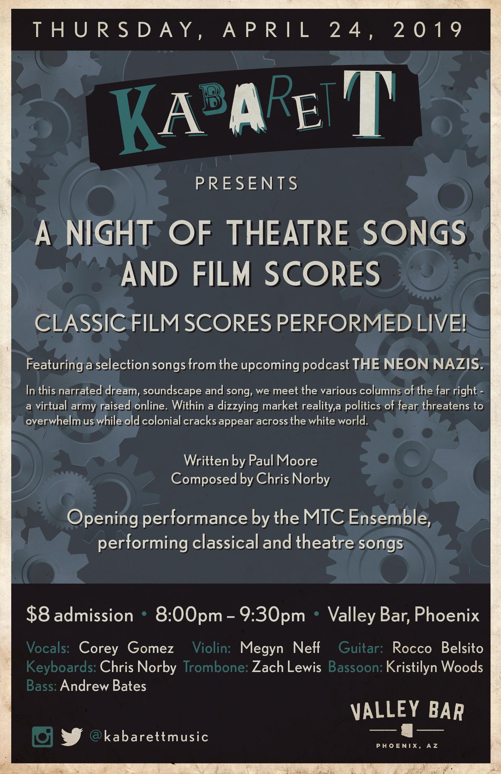 KABARETT: A NIGHT OF THEATRE SONGS AND FILM SCORES