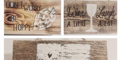 Beer and Brushes - Beer / Wine Themed Reclaimed Wood Art Project