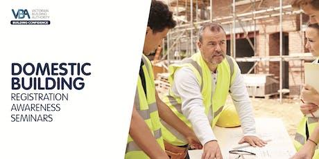 Domestic Building Registration Awareness Seminars  tickets