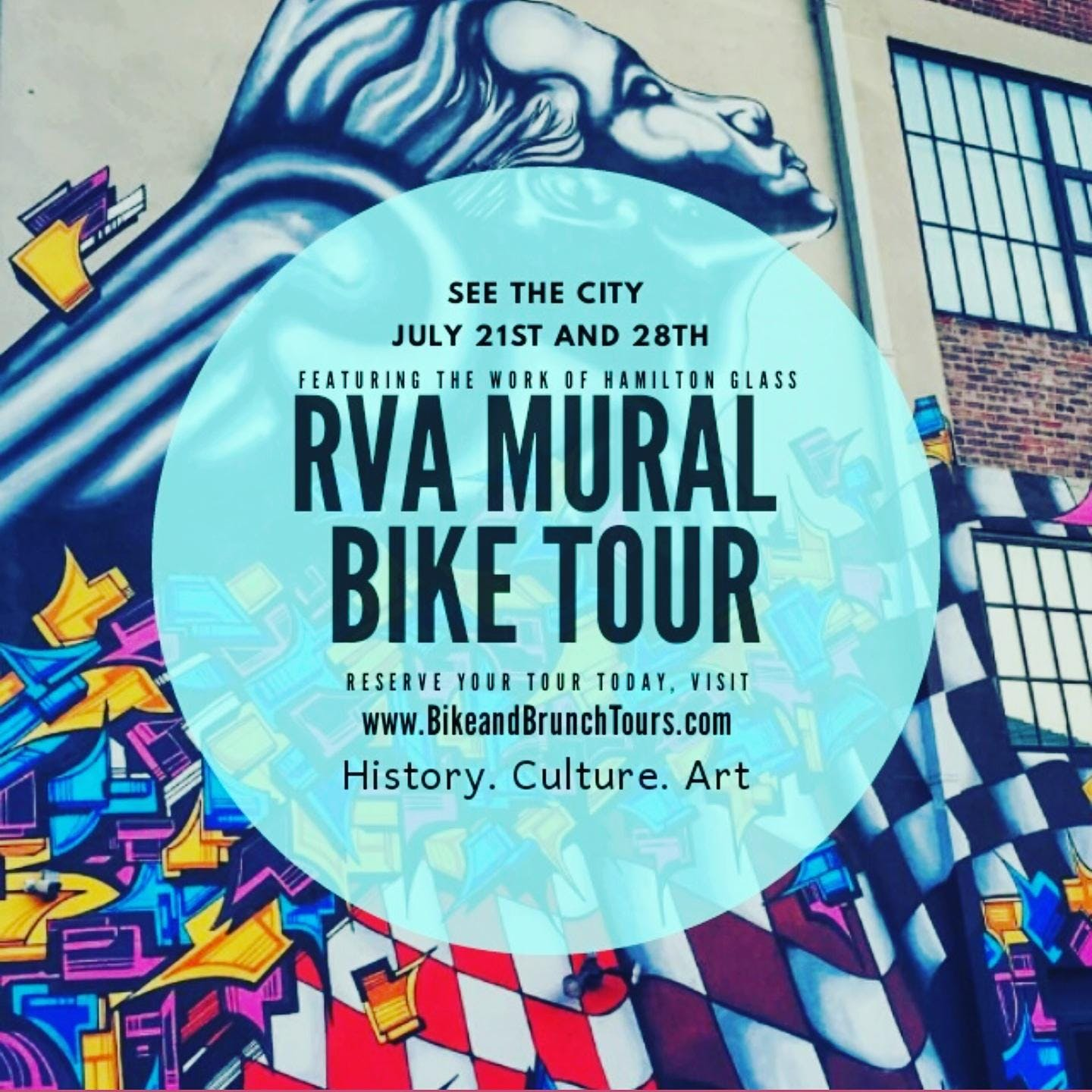 46d7630fa Bike   Brunch Tours  RVA Mural Bike Tour 2019 (June) - 22 JUN 2019