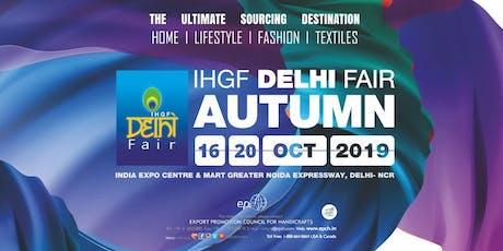 IHGF Delhi Fair Autumn 2019 tickets