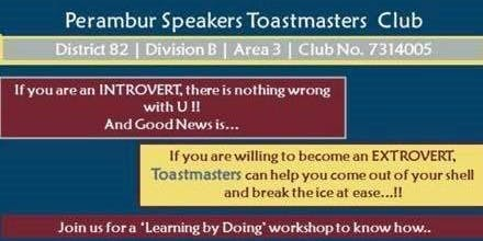 Perambur Speakers Toastmaster Club Meeting