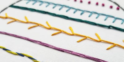 Hand Embroidery Workshop For Beginners - Wild Flowers - Wigan