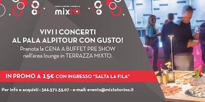 Apericena in Terrazza prima del concerto del 27 aprile al Pala Alpitour