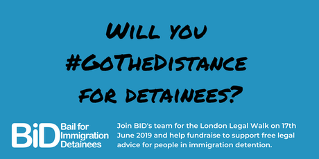 #GoTheDistance for detainees at the London Legal Walk 2019  tickets