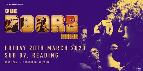 The Doors Alive (Sub89, Reading) tickets