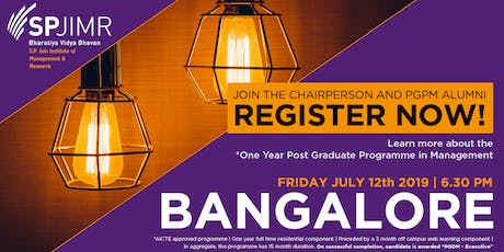 S.P.Jain Institute of Management & Research - PGPM Info Session - Bangalore tickets