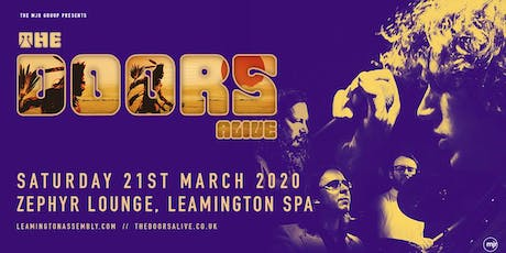 The Doors Alive (Zephyr Lounge, Leamington Spa) tickets