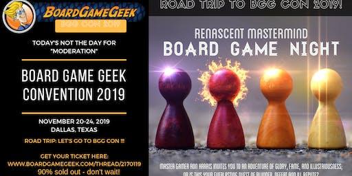 Board Game Geek Con 2019 Road Trip