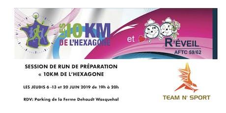 RUNNING SESSION 10KM HEXAGONE WASQUEHAL  tickets