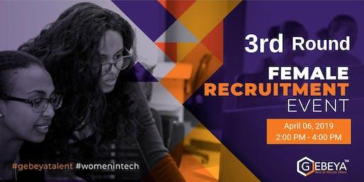Female Recruitment Event - Third  Round