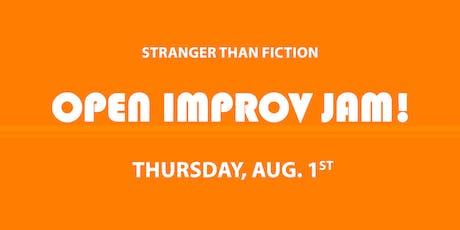 Improv Open Jam! August 1st tickets
