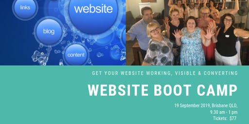 Website Boot Camp - Get your website, working, visible & converting