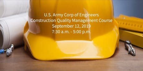 Construction Quality Management - Sept 2019 tickets