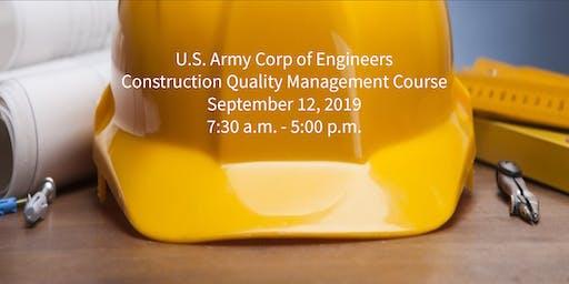 Construction Quality Management - Sept 2019