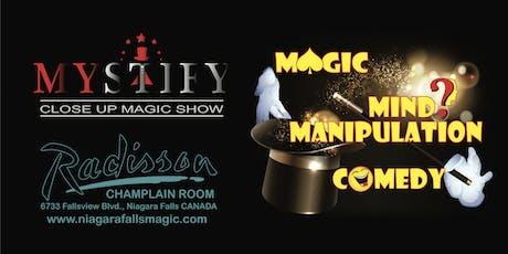 MYSTIFY Close Up Magic Show Niagara Falls tickets