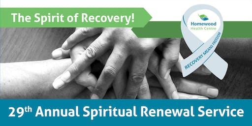 Homewood Health Centre - 29th Annual Spiritual Renewal Service
