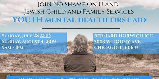 Youth Mental Health First Aid with No Shame On U and JCFS