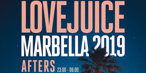 LoveJuice Afters at Tibu Marbella Sat 24 August 2019