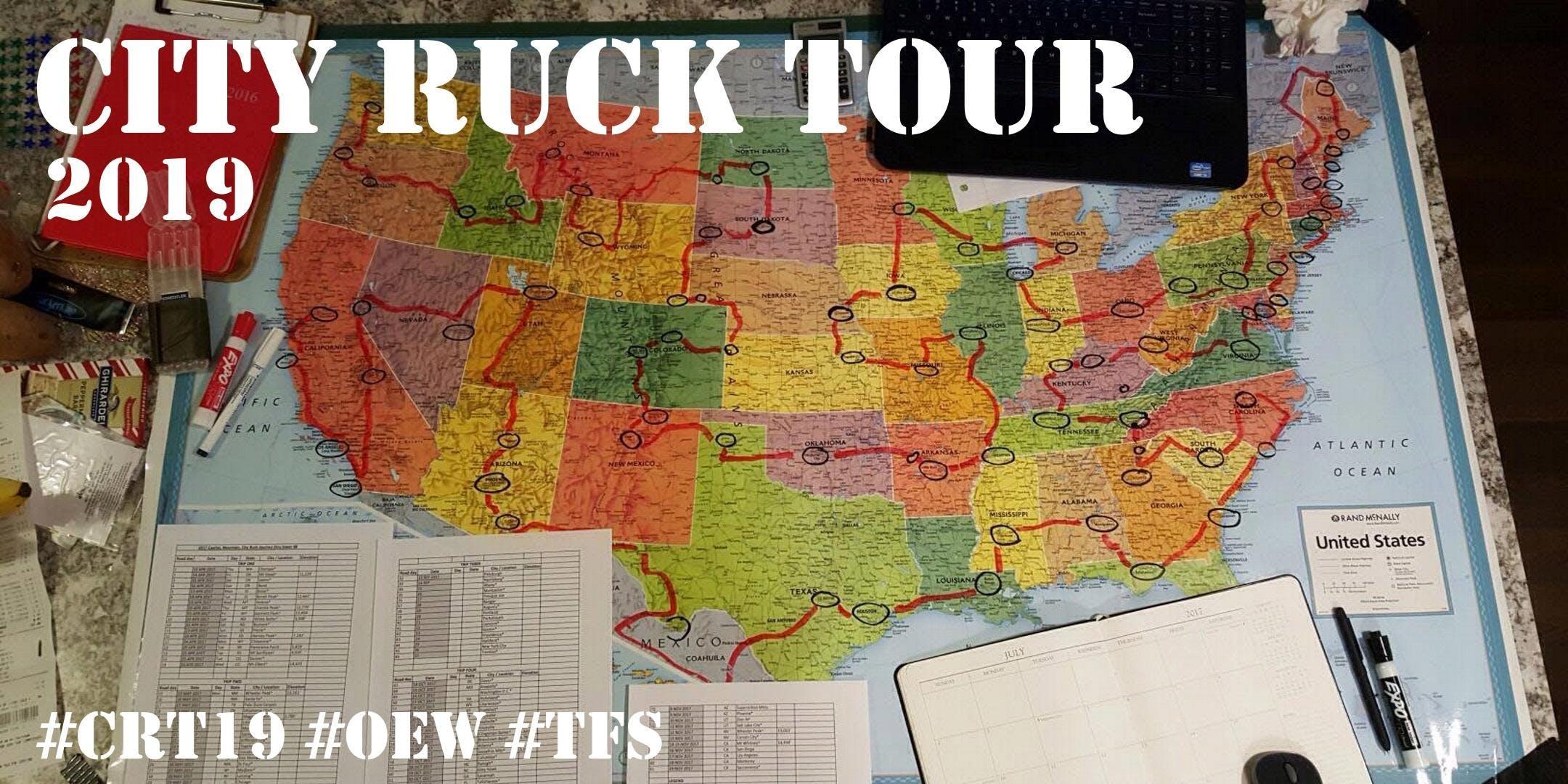 City Ruck Tour 2019 - Sacramento CA