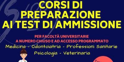 Corsi di preparazione Test Ammissione 2019: Medicina e Prof. Sanitarie (AL)