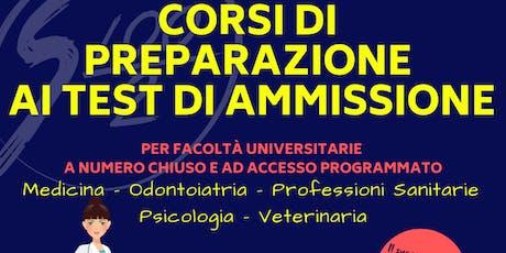 Corsi di preparazione Test Ammissione 2019: Medicina e Prof. Sanitarie (AL) biglietti
