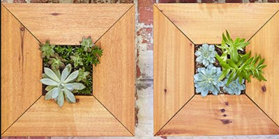 Artists and Makers Series: Wood Framed Succulent Planter (BYOB)