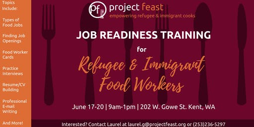 Job Readiness Training for Refugee & Immigrant Food Workers
