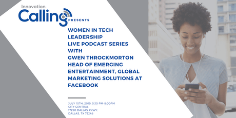Innovation Calling - Women in Tech Leadership Live Podcast Recording tickets