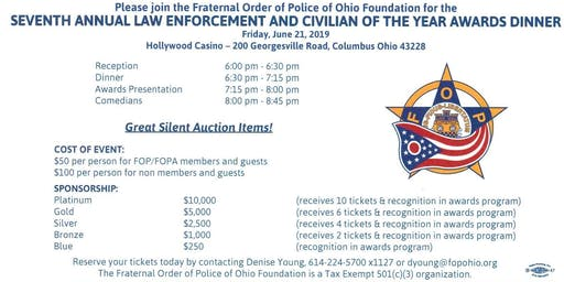 7th Annual Law Enforcement & Civilian of the Year Award Dinner