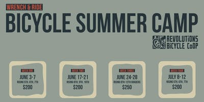 Wrench & Ride Bicycle Summer Camp 2019 - Grades 8,9,10