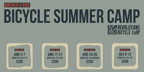 Wrench & Ride Bicycle Summer Camp 2019 - Advanced tickets