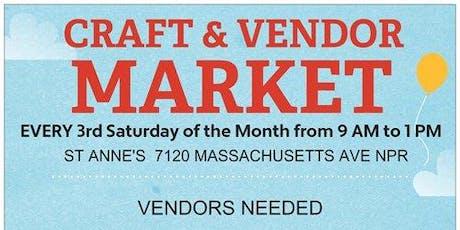 Craft & Vendor Market and Health Fair tickets
